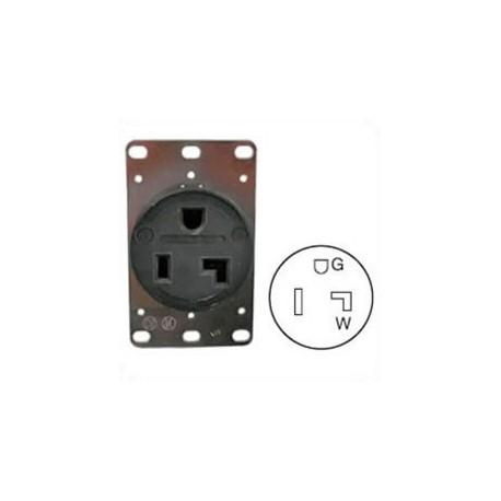 Hubbell HBL9308 NEMA 5-30 Female Receptacle - 30 Amp, 125 Volt
