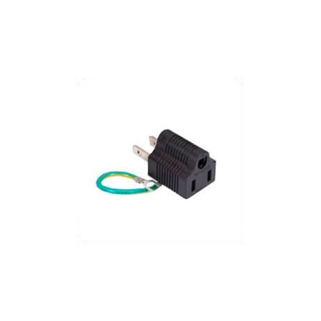 North America NEMA 1-15 Plug to NEMA 5-15 Connector Block