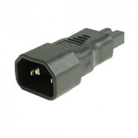 C14 Plug to C7 Connector Polarized Block Adapter - Black