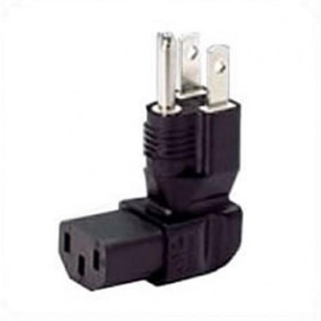 North America NEMA 5-15 Up Plug to C13 Down Connector Block